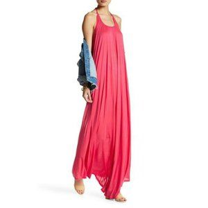Go Couture Coral Pink Halter Maxi Dress Size L
